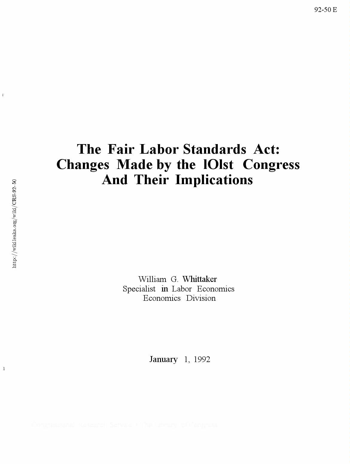 fair labor standards act research paper Research fellow at the national bureau of economic research this paper has hours of work and the fair labor standards act: a study of retail and.