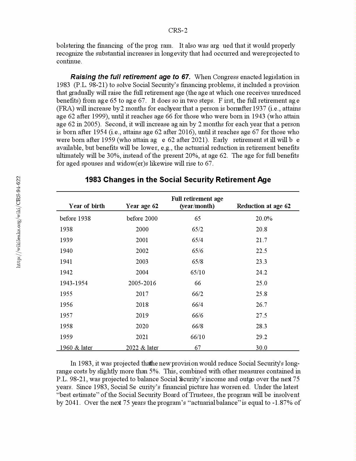 retirement age changes page 61 actuarial | glutomsindern ml
